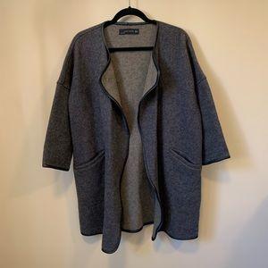 Zara Oversized Open Front Duster Jacket